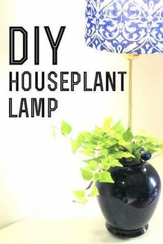 7 Steps to Turning Your Plant into a Lamp: Ever feel like your home needs a little more 'life'? Living, breathing houseplants radiate life and vibrancy. In this DIY, the world of living plants and lighting collide. There are dedicated plant or flower pot lamp making kits available to make this an easy and safe project. Make A Lamp, Diy Plant Stand, Decor Project, Handmade Home, Lamp, Diy Plants, Upcycle Projects, Diy Table Lamp, House Plants