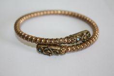 Victorian Bypass Bracelet Renassiance GF Wrap 1900s by patwatty, $55.00