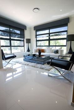 White tile floor living room ideas super white floor tiles home decorations images Living Room Blinds, Living Room Flooring, Basement Flooring, Living Rooms, Tiles For Living Room, Bedroom Blinds, Outdoor Flooring, Bedroom Flooring, Kitchen Flooring