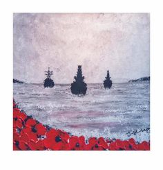 Anchored In Remembrance by Jacqueline Hurley ~ Limited Edition Signed Giclée Print ~ War Poppy Collection Remembrance Art Remembrance Day Activities, Remembrance Day Poppy, Original Artwork, Original Paintings, Pebble Painting, Military Art, Contemporary Paintings, Beautiful Paintings, Art Reproductions