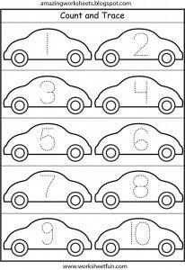 Number Tracing – – One Worksheet / FREE Printable Worksheets Preschool Number Worksheets, Numbers Preschool, Tracing Worksheets, Learning Numbers, Preschool Learning, Worksheets For Kids, Kindergarten Math, Preschool Activities, Printable Worksheets