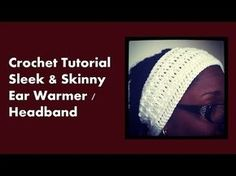 Sleek and Skinny Ear Warmer/ Headband - Cre8tion Crochet