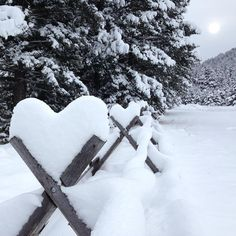 The fence line at The Ranch at Rock Creek after a snow storm. | Forbes Travel Guide Five-Star glamping in Philipsburg, Montana.