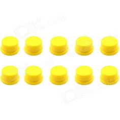 Brand: Jtron; Model: 20010020; Quantity: 10 Piece; Color: Yellow; Material: Plastic; English Manual / Spec: No; Other Features: 12 x 12mm key switch dedicated cap; Certification: NO; Packing List: 10 x Switch Round Caps; http://j.mp/1tp3Sc0