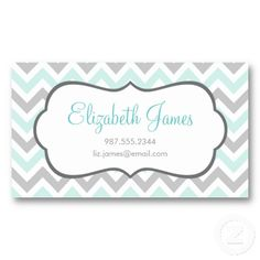 Business Card Template Teal Frame DIY Editable Word Template - Cute business cards templates free