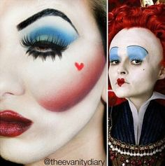 Halloween Makeup Ideas The Queen Of Hearts ❤ off with there heads