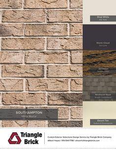 House Exterior Color Schemes, Exterior Paint Colors For House, Exterior Colors, Exterior Design, Brown Brick Exterior, Brown Brick Houses, Roof Colors, Brick Colors, Colours