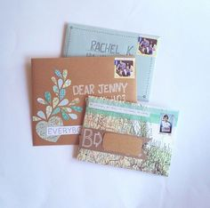 Lovely Letters from Snail Mail Ideas – Mailbox Obsession Pen Pal Letters, Pocket Letters, Diy Cadeau, Fun Mail, Decorated Envelopes, Envelope Art, Addressing Envelopes, Scrapbooking, Happy Mail