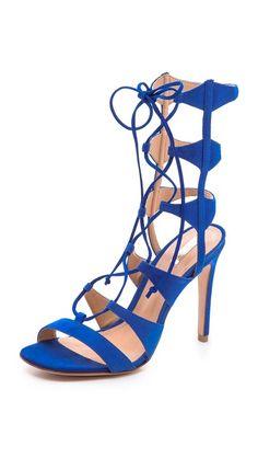 Schutz Erlene Lace Up Sandals  ROYAL BLUE SEXINESS