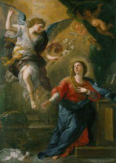 The Annunciation Luca Giordano (1632-1705) Oil on canvas 236.5x169.9cm (1672)