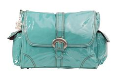 """Free Shipping for diaper bags. A magnetic clip keeps the top flap closed The laminated outer layer makes clean up a snap! Roomy interior with pockets Shoulder length straps 2 outside pockets Matching insulated bottle bag Coordinating zippered pouch Large fold-out padded changing pad Eco-friendly -- Kalencom diaper bags are AZO-free and utilize no Phthalates Dimensions: 14""""L x 6""""W x 11""""H"""