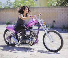 5 Types of Women that Ride Motorcycles (Infographic) Bobber Bikes, Bobber Motorcycle, Motorcycles, Lady Biker, Biker Girl, Harley Davidson Photos, Female Motorcycle Riders, Biker Clubs, Types Of Women