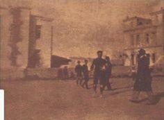 Το πρώτο γήπεδο του ΠΟΑ το 1908. Το γήπεδο ήταν το οικόπεδο ιδιοκτησίας Καραπάνου στο Λούνα Παρκ της οδού Πατησίων, χώρος που στεγάζεται πλέον το Οικονομικό Πανεπιστήμιο Αθηνών.