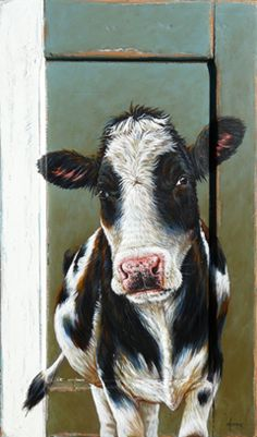 Animal Paintings on old wood Cow Paintings On Canvas, Farm Paintings, Cow Canvas, Animal Paintings, Animal Drawings, Bois Intarsia, Cow Pictures, Cow Art, Cute Cows