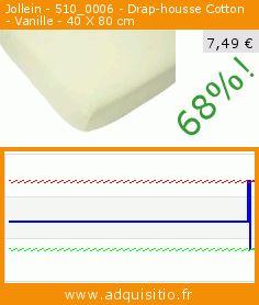 Jollein - 510_0006 - Drap-housse Cotton - Vanille - 40 X 80 cm (Puériculture). Réduction de 68%! Prix actuel 7,49 €, l'ancien prix était de 23,49 €. https://www.adquisitio.fr/jollein/5100006-drap-housse