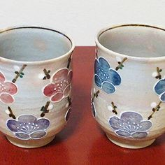 BESTJAPAN | Kiyomizu Yaki Yunomi /Mug Cup/Icchin Ume-plum (Pair) Elegant shapes, graceful design, and pure, intense colors – these are the qualities that have drawn generation after generation to Kyoto's Kiyomizu yaki ceramic ware.  Very cute plums are drawned three-demensionally,very lucky design Great for gift.it keep warm and their thickness won't convey hot temperature. Keep Warm, Mug Cup, Kyoto, Shapes, Ceramics, Pure Products, Traditional, Elegant, Colors