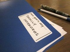 new year's family interview printable