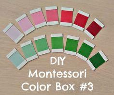 Easy tutorial for DIY Montessori Color Box #3 contributed by Montessori en Casa on MontessoriBloggersNetwork.com