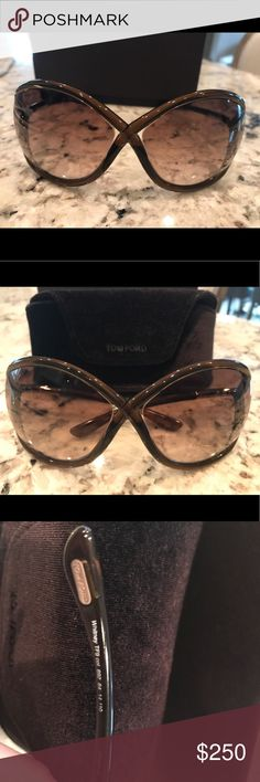 Tom Ford Whitney Sunglasses Purchased from Nordstrom hardly worn in EUC. Purchase includes cleaning cloth, sunglasses case and original box Tom Ford Accessories Sunglasses