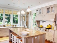 Photo of White French Country Kitchen project in Woodway, WA by Gretchen Evans Design