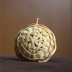 Rattan weaving ball, christmas decoration