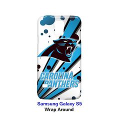Carolina Panthers Node and Strip Samsung Galaxy S5 Case Cover Wrap Around