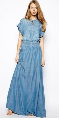 Modest Denim Maxi Dress. http://www.amazon.com/gp/product/0895558009/ref=as_li_ss_tl?ie=UTF8&camp=1789&creative=390957&creativeASIN=0895558009&linkCode=as2&tag=collehammo-20