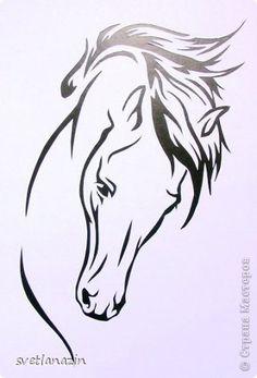 Картина панно рисунок Вырезание Навырезалось   Лошади Бумага фото 2