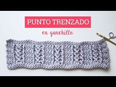 Elástico a crochet en Medio punto - YouTube