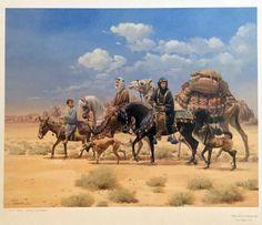 Mary Haggard Arabian Horse Print THE LITTLE TRAVELER