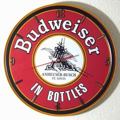 Hey, I found this really awesome Etsy listing at https://www.etsy.com/listing/197346672/budweiser-wall-clock-1175-diameter-new