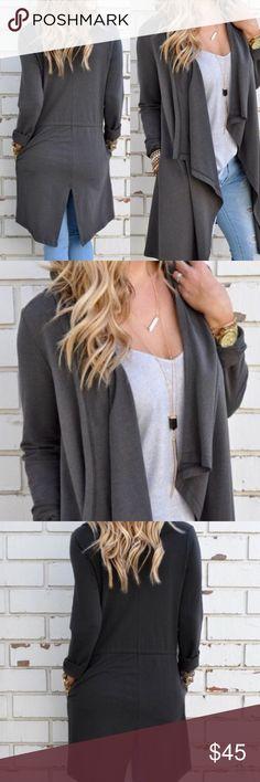 Gray cotton cardigan Cotton Sweaters Cardigans