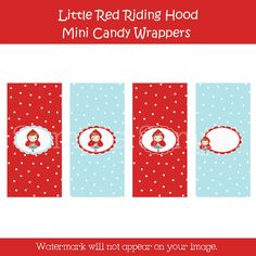 Little Red Riding Hood Mini Candy Bar Wrappers