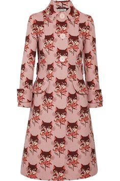 What does the fox say?   Miu Miu | Wool-blend jacquard coat | NET-A-PORTER.COM