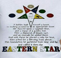 Order of The Eastern Star: 5 Jewels equal The Foundation ★★★★★