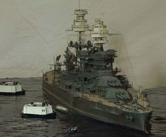 USS Arizona BB-39  by Kostas Katseas