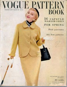 Vogue Pattern Book, February-March 1955 featuring Vogue S-4573