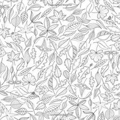 Secret Garden : Johanna Basford  Pour un coussin aux teintes automnales