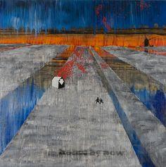 Stanley Donwood - Hide - Acrylic on canvas, 2007 - 48 x 48 in. Radiohead, Stanley Donwood, British Rock, Night Vale, English Artists, Animation, Graphic, Figurative Art, Dark Art