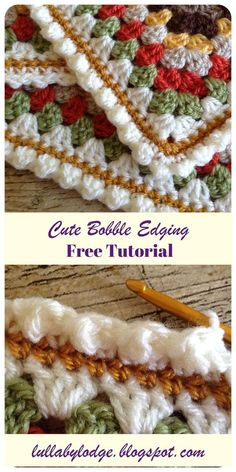 For Beginners Granny Square Super simple, super cute crochet edging. Can be added to all sorts of projects. Make your blankets look extra special with this free tutorial crochet suitable for beginners. Crochet Blanket Border, Crochet Boarders, Crochet Stitches Patterns, Crochet Afghans, Crochet Edges For Blankets, Crochet Edgings, Bobble Crochet, Knitting Stitches, Free Knitting