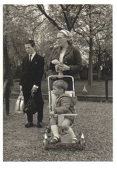 With my mom and brother in the Amsterdam forrest 1964