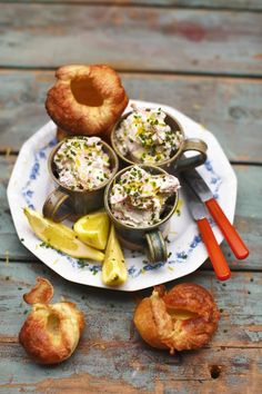 Smoked Trout Pate and Yorkshire Puddings