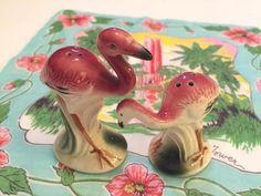 Vintage Florida flamingo salt and pepper shakers by 3floridagirls