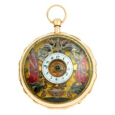 Gold Quarter Repeating Jacquemart Automaton Pocket Watch | From a unique collection of vintage pocket watches at http://www.1stdibs.com/jewelry/watches/pocket-watches/