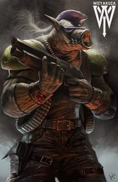 Bebop - Teenage Mutant Ninja Turtles - 11 x 17 impresión Digital Ninja Turtles Art, Teenage Mutant Ninja Turtles, Gi Joe, Comic Books Art, Comic Art, Bebop And Rocksteady, Mundo Comic, The Villain, Oeuvre D'art