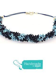 "Collar de Conchas Naturales modelo ""Podrs"" La Toja pintado a mano color azul turquesa y azul marino de Artesania La Toja - LATCOR https://www.amazon.es/dp/B01LVW50OF/ref=hnd_sw_r_pi_dp_2AN9xbQK1X8W2 #handmadeatamazon"