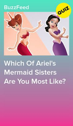 Which Of Ariel's Mermaid Sisters Are You Most Like? Little mermaid Mersisters Aquata Mermaid Quizzes, Mermaid Jokes, Ariel Mermaid, Princess Quizzes, Disney Princess Quiz, Disney Quiz, Disney Fun Facts, Funny Disney, Disney Memes