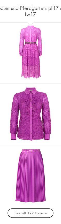 """""""Baum und Pferdgarten: pf17 & fw17"""" by livnd ❤ liked on Polyvore featuring baumundpferdgarten, livndfashion, prefall2017, livndbaumundpferdgarten, dresses, purple, purple lace dress, lace cocktail dresses, baum und pferdgarten and pink purple dress"""