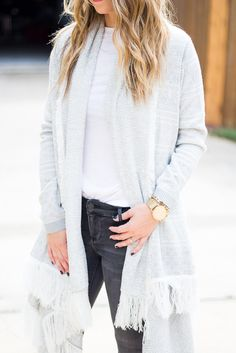 Fringe Cardigan with