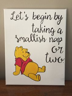 Winnie the Pooh Quote Canvas by TheLazyPaintbrush on Etsy